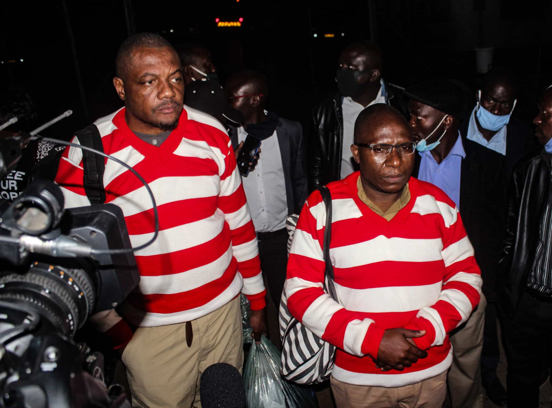 In Pictures: Hopewell and Ngarivhume Leaving Chikurubi Prison | 263Chat